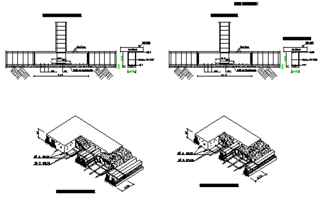 Pre-fabricated slab detail design drawing