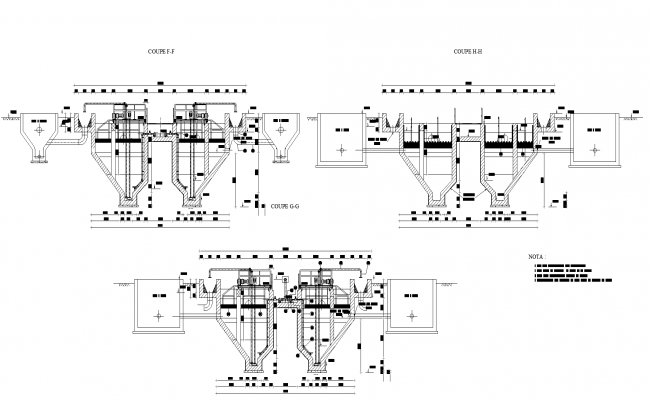 Pre-treatment equipment plan detail dwg file,