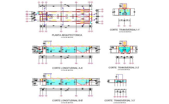 Preliminary plan of treatments autocad file
