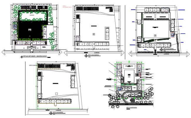 Primary School Site Plan DWG File