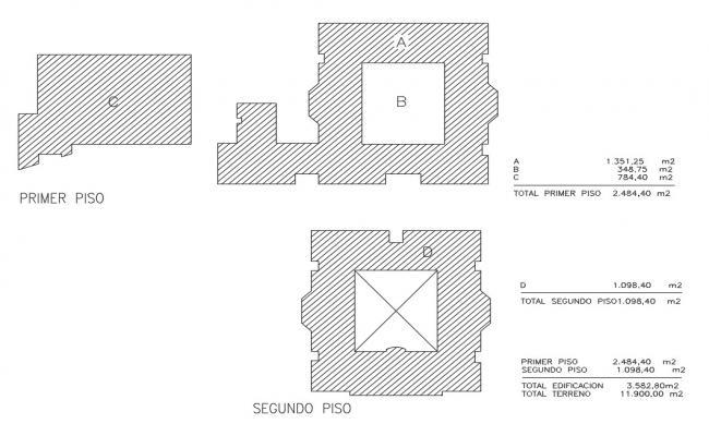 Primary school floor details project dwg file