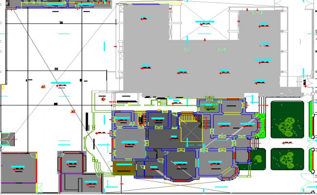 Private School Architecture Project dwg file