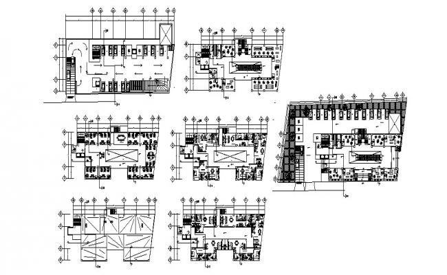 Production plant with industrial office cad drawing details dwg file