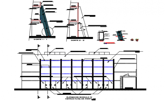 Profile structural detail dwg file