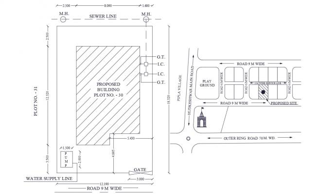 Project Site Plan DWG File