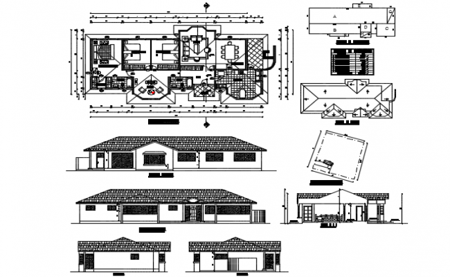 Project housing one plant detail dwg file