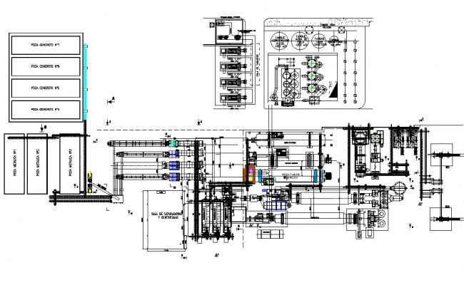 Project industrial plant fishing plan detail dwg file