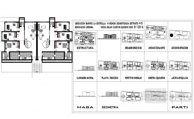 Project multi-family housing high-density plan detail dwg.