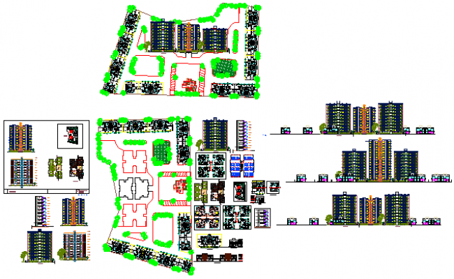 Project of Apartment design drawing