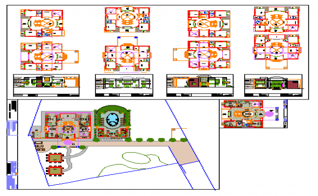Project of Bungalow design drawing