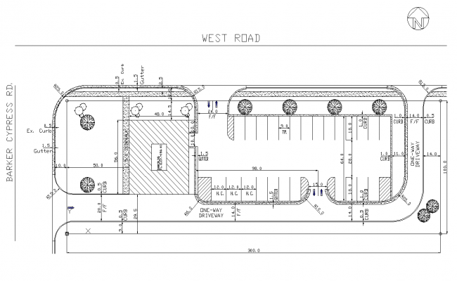 Project site plan detail 2d view layout file