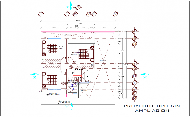 Project with extrusion with construction detail dwg file