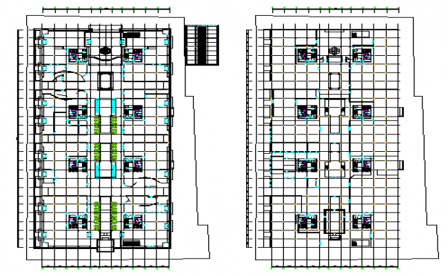 Proposed Layout design drawing of Corporate building design