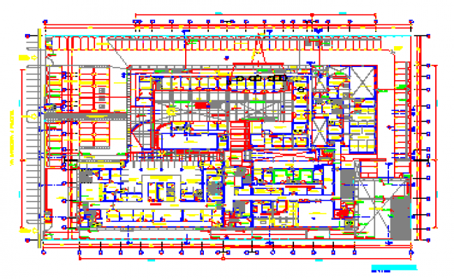 Proposed Layout design drawing of hospital design drawing