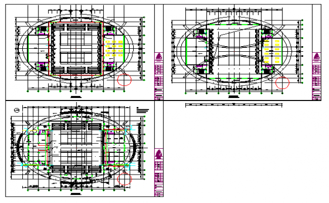 Proposed Layout of Sports Center tennis court design drawing