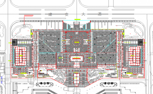 Proposed Layout plan design drawing of Park