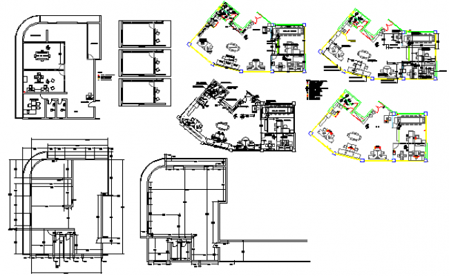 Proposed Office layout design drawing