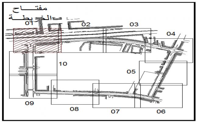 Proposed irrigation layout line bubble details dwg file