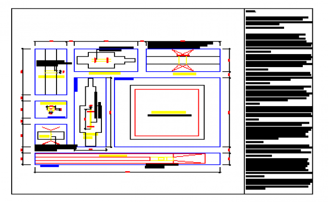 Proposed layout of Artistic Gymnastics design drawing