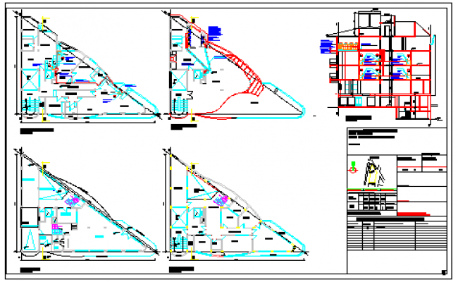 Proposed layout of building height,gas installation plant design drawing