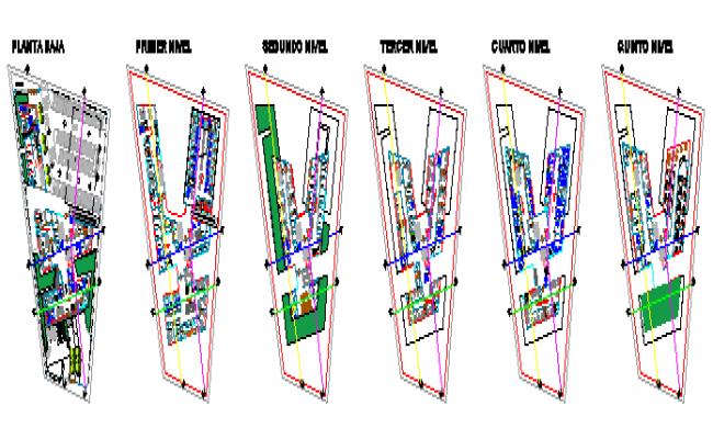 Proposed layout plan design drawing of General Hospital design