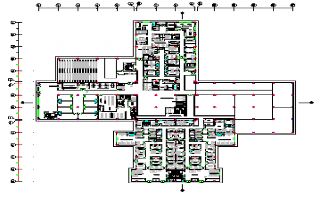 Proposed layout plan design drawing of hospital building design