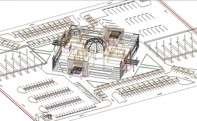 Prototype architecture 3d projects in cad