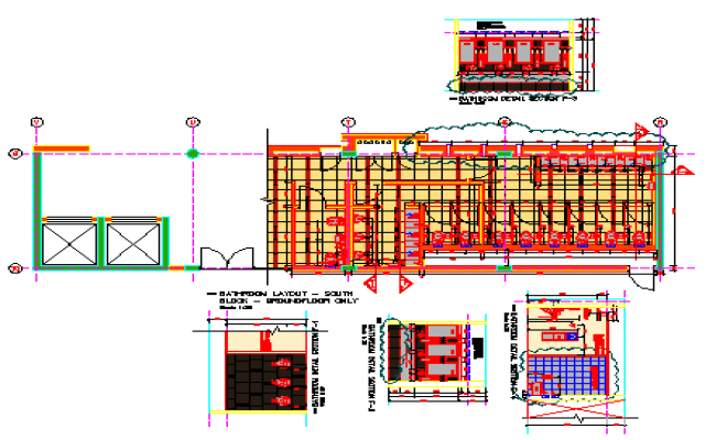 Public Bathroom Construct design drawing