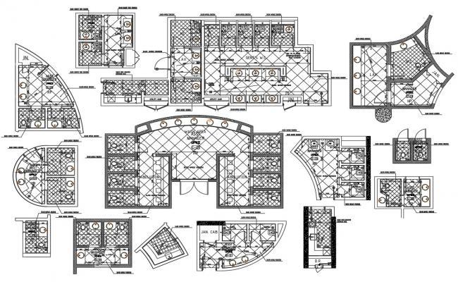 Public Toilet Design Plan CAD File Download