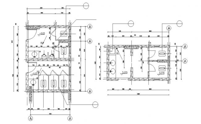Public Toilet Free CAD Drawing
