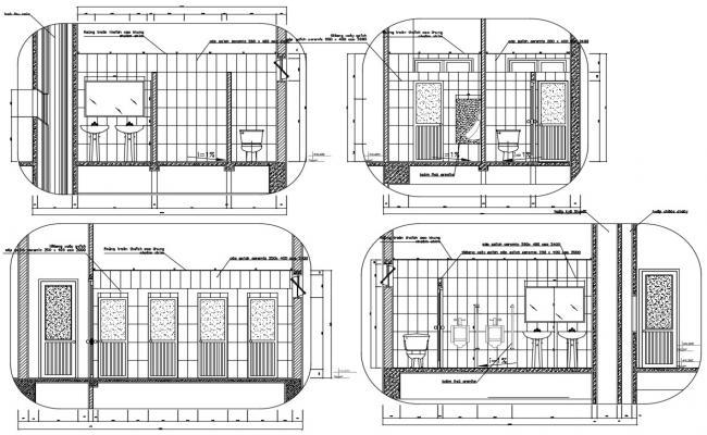 Public Toilet Plan AutoCAD File