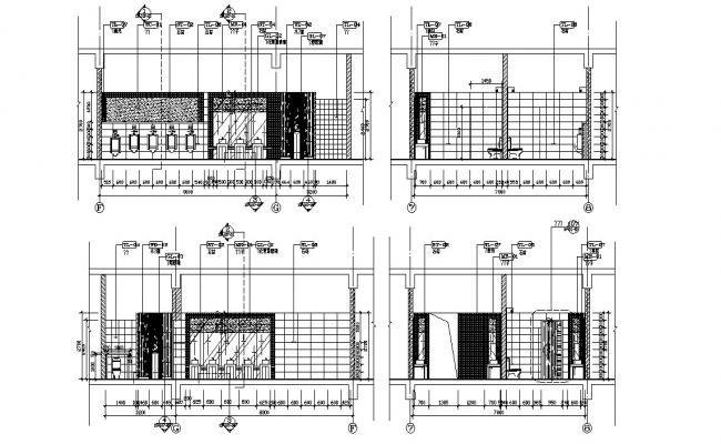 Public Toilet Section AutoCAD Drawing