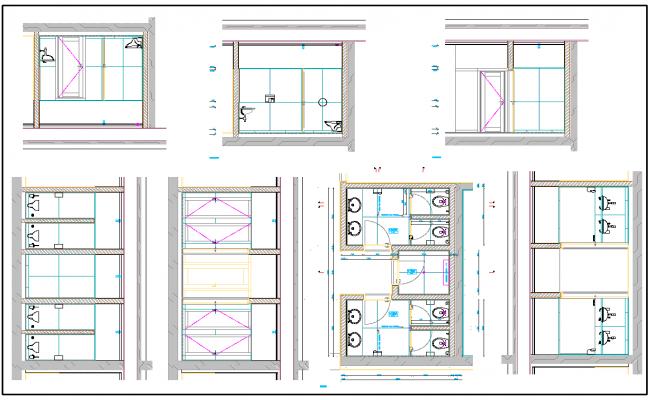 Public Toilet layout plan dwg file