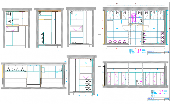 Toilet Elevation Plan : Public toilet plan dwg file