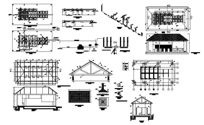 Public hygiene service elevation, section, plan, installation and auto-cad details dwg file