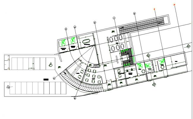Public library detail floor plan.