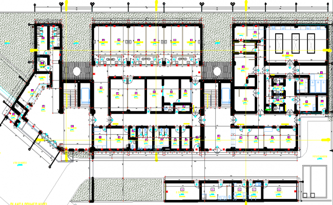 Public ministry layout plan dwg file