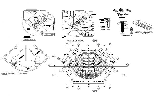 Public toilet detail line plan 2d view layout file