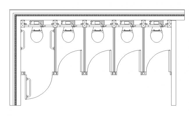 Public toilet detail plan layout dwg file