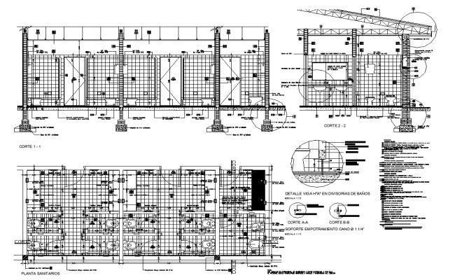 Toilet Elevation Plan : Public toilet plan and elevation detail dwg file