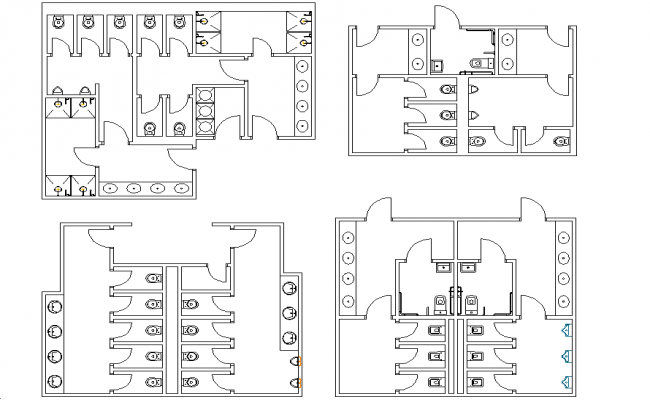 Public Toilets Layout Plan Dwg File