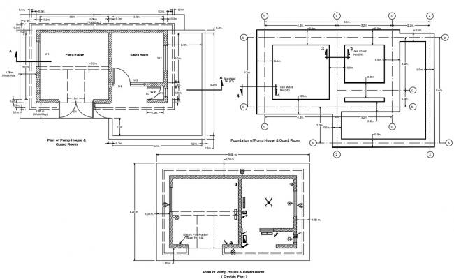 Pump House Floor Plan DWG File