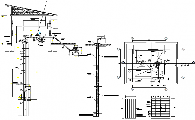 Pump electric detail dwg file