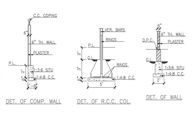 RCC Column And Wall CAD File