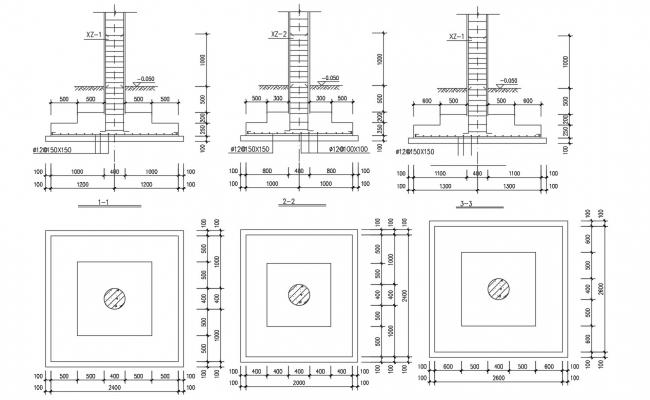 RCC Column AutoCAD Drawing