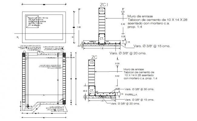 RCC Column Design CAD Drawing Download