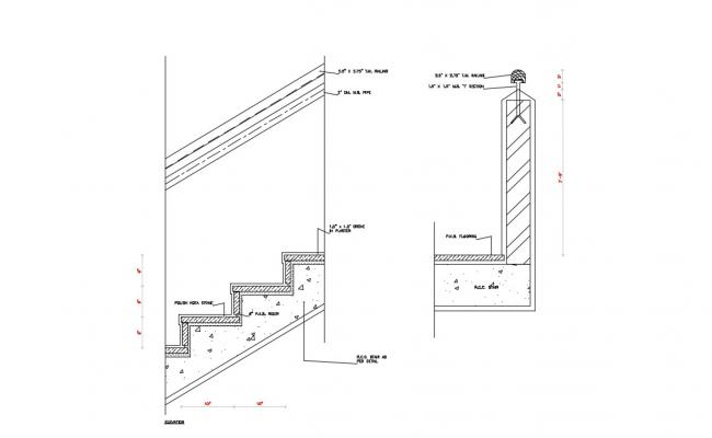 RCC Staircase DWG File