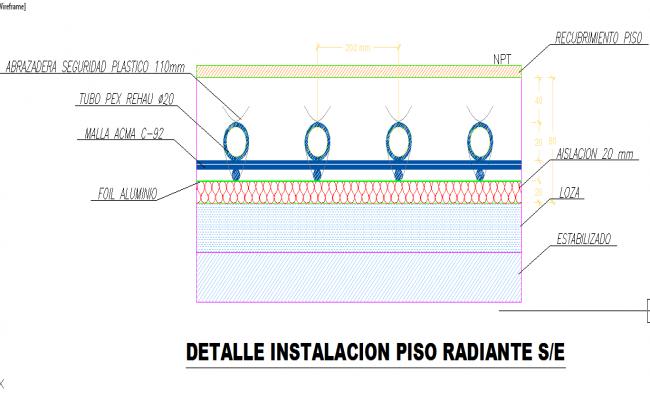 Radiating floor