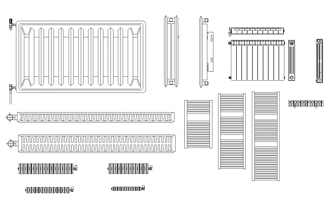 Radiator Machinery block 2d view layout file