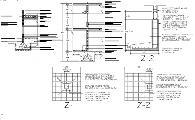 Raft Foundation Plan Detail Dwg File
